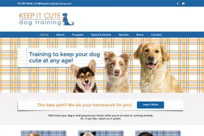 keep it cute dog training website