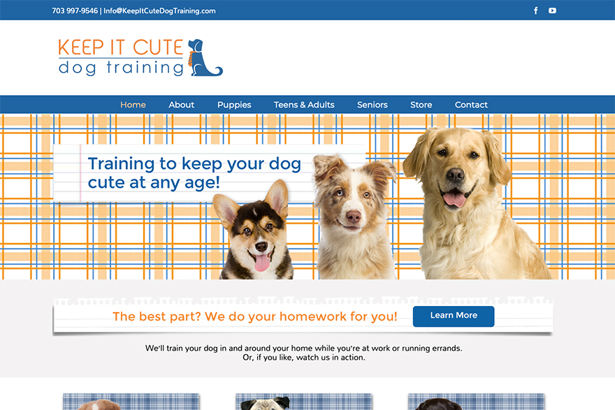 keep it cute dog training website