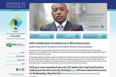 AEO Citi Microbusiness Awards website