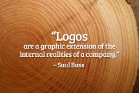Logos are a graphic representation of the internal realities of a company.