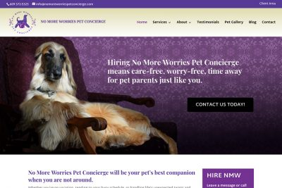 No More Worries Pet Concierge website