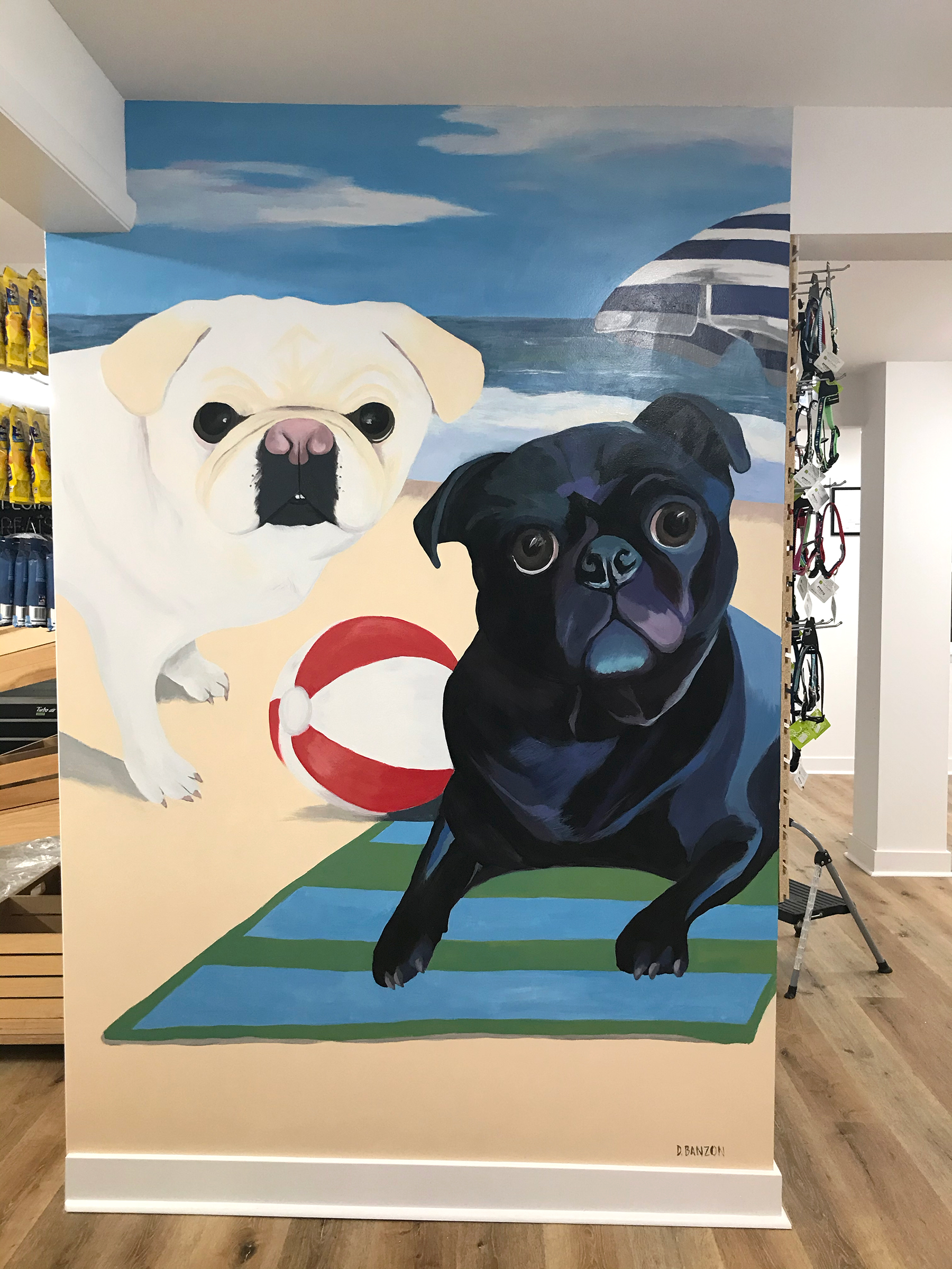 custom painted mural